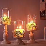 Archaistische Eisenkerzenständer Romantische Hochzeit Eiserner Lampenschirm Kerzenständer Romantisches Abendessen Bei Kerzenlicht Kreative Kerzenständer Haus Deko Esstisch Kerzenständer (3 Pcs/set)