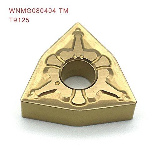 10pcs wnmg080404 tm t9125 externe drehwerkzeuge carbide einfügen hochwertige drehbank schneidwerkzeug aus einfügen
