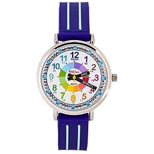 Orologio infantile per bambino/ragazzo, aiuta a IMPARARE A LEGGERE L'ORA, in confezione regalo, CON ESERCIZI, meccanismo al quarzo giapponese, batteria di lunga durata, Time Teacher KI10311