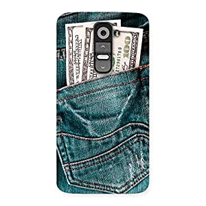 Stylish Pocket Full Jeans Multicolor Back Case Cover for LG G2