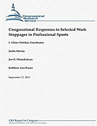 Congressional Responses to Selected Work Stoppages in Professional Sports