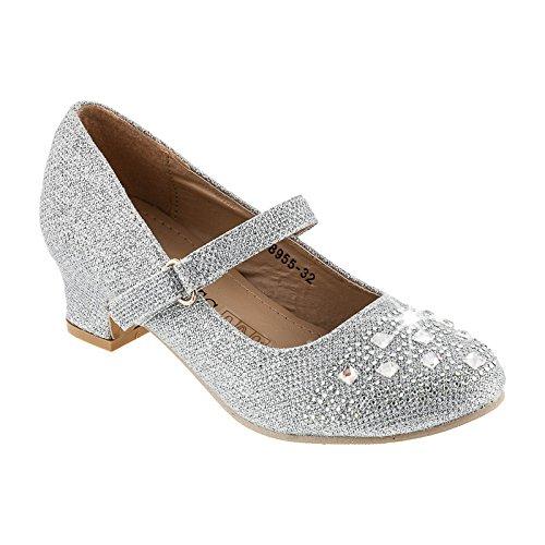 Scarpe eleganti da bambina, in 4colori, (#561 Silber), 27 EU