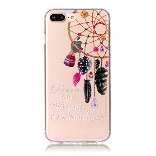 iPhone 7 Plus Coque,iPhone 7 Plus Cover,iPhone 7 Plus Silicone Case - Felfy Ultra Light Mince Slim Gel Souple Soft Flexible TPU Cas Color Motif Couvrir Protector Housse Anti Scratch Couverture de Prot Dreamcatcher