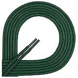 Di Ficchiano-SW-03-dark.green-75 Gewachste Runde Schnürsenkel, Schuband, Laces, Durchmesser 2-4 mm für Businessschuhe, Anzugschuhe und Lederschuhe