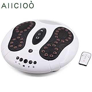 AIICIOO EMS Foot Massager Machine with Heat Function Improve Leg Blood Circulation Electromagnetic Relieve Stiffness Muscles/Swollen Feet/Fatigue for Home Office