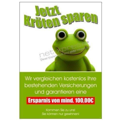 Plakat für kostenlosen Versicherungsvergleich DIN A1, Werbeplakat Poster