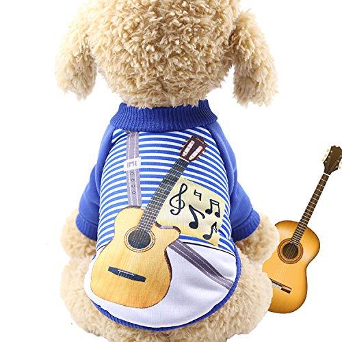 ZGCP Aus Halloween-Hundekleidung, lustiger Haustierkleidung, Herbst- und Winterkürbissen wurde der zweibeinige Gitarrist L (Öffnen Gehirn Kostüm)