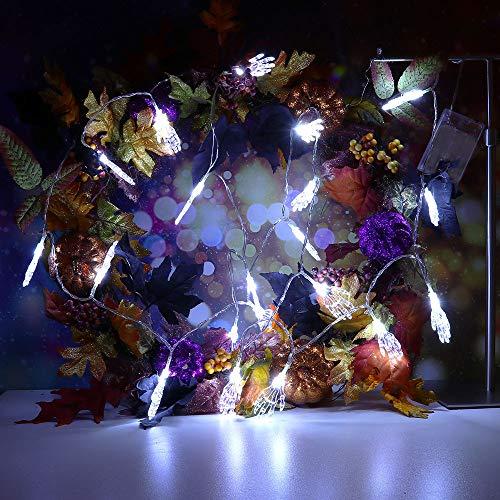 String Light TAOtTAO 10 m Halloween String Light mit 20 LED-Lichtleiste Party Garden Patio Dekoration (Weiß)
