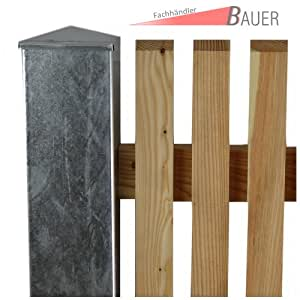 bauer zaun torpfosten vz zum einbetonieren 100x100x3mm l 1500mm baumarkt. Black Bedroom Furniture Sets. Home Design Ideas