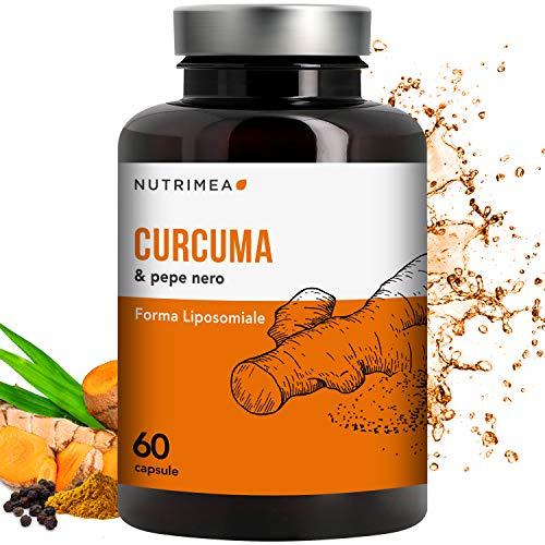 Curcuma Piperina Plus Olio Extra Vergine Oliva Biologico • 95{c522c90acd389332aaf2d3f1a003d99c6f526bbc861b60b453de43fe89929861} Estratto Curcumina Piperina • 350 mg Curcumina Pura 7 mg Estratto Puro Pepe Nero • Dimagrire Bruciagrassi Antiossidante Antinfiammatorio