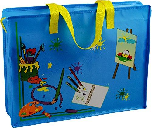 Mal- und Zeichentasche~45 x 34 cm groß~Maltasche~Farbwahl (blau) (Tasche Mw)