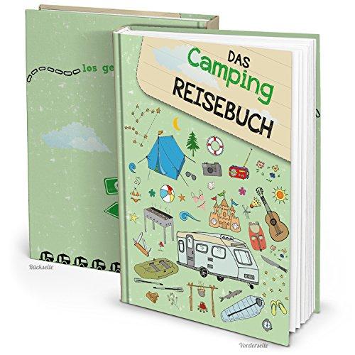 XXL Campingbuch Reisetagebuch Camping Reisebuch für Camper - Geschenk zum Geburtstag Weihnachten Jubiläum Ruhestand Fahrtenbuch Urlaubs-Tagebuch Wohnwagen Wohnmobil Campingbus