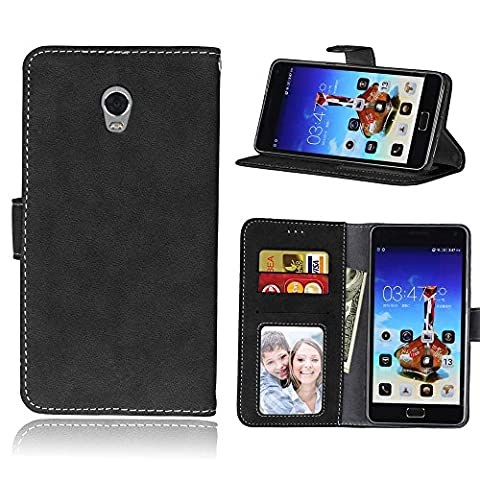 Lenovo Vibe P1 Case,BONROY® Lenovo Vibe P1 Retro Matte Leather PU Phone Holster Case, Flip Folio Book Case, Wallet Cover with Stand Function, Card Slots Money Pouch Protective Leather Wallet Case for Lenovo Vibe