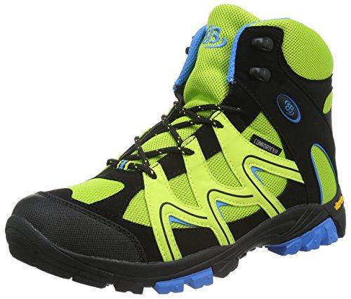 EB kids Vision High, Scarpe da Escursionismo Bambino Verde (LEMON/SCHWARZ/BLAU)