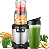 Aicok Smoothie Blender, 1200W Professional Blenders, Smoothie Maker, 6 Blade Assembly 28,000RPM High