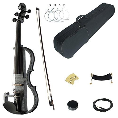 7 Steckdose Telefon-line (Kinglos 4/4 Farbig Massivholz Fortgeschritten Elektrische Violine Geige Set mit Ebenholz Beschläge (DSG1311))
