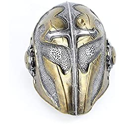 LXIANGP Templar Knight Mask Cos Cross Ancient European War Soldier Halloween Horror Resina Performance Movie Props