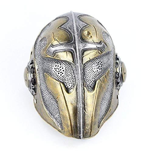 Maske Cos Cross Alten europäischen Kriegssoldaten Halloween Horror Resin Performance Film Requisiten ()
