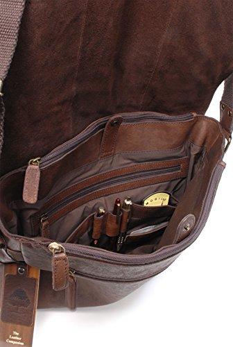 """Umhängetasche / für Laptop geeignete Tasche """"Pedro"""" von Ashwood - GRÖßE: B: 39 H: 28 T: 10 cm Braun"""