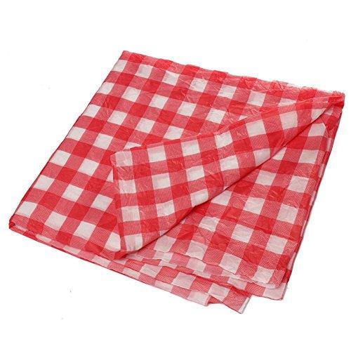 Gedruckt Tischdecke Rechteck Einweg Tischdecke Einweg Kunststoff Rot Und Weiß Karierten Tischdecken Party Tischdecken Tischdecke ()