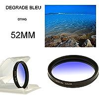 Oting 52MM Filtre Photo Dégradé Bleu Professionnel