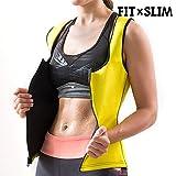 FitxSlim X-Tra Sauna Chaleco Deportivo, Mujer, Amarillo, M