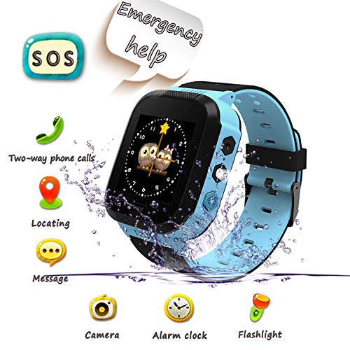 UK XUN Smartwatch para Niños, Llamada de Emergencia SOS, localizador GPS, Perímetro...