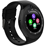 Paytech Smart Watch Y1S Round Bluetooth Smartwatch with Camera SIM Card Slot Compatible with Samsung LG Sony HTC Huawei Google Xiaomi Android Smart Phones for Women Kids Boys Girls