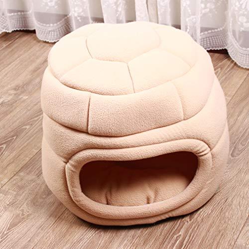 LRR Weiche, atmungsaktive, tragbare Haustiermatte Waschbares, rutschfestes Haustierkäfigkissen für mittelgroße Hunde und Katzenkisten von Samll-Beige-42 * 42 * 34cm