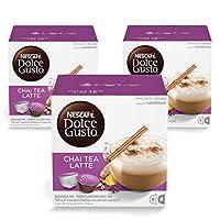 Nescafe Dolce Gusto Chai Tea Latte Coffee - 3 X 16 Capsules