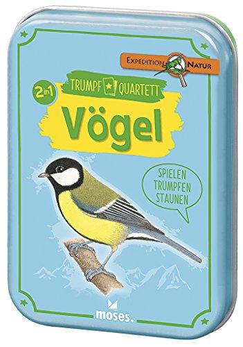 Moses 9671 - Expedition Natur Trumpf-Quartett Vögel | Kartenspiel