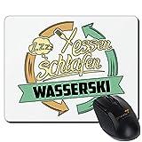 getshirts - RAHMENLOS® Geschenke - Mousepad - Sport Wasserski - weiss uni