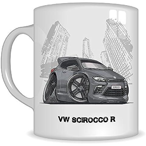 Regalos de Koolart k3325-mg dibujos animados de regalo taza, diseño de Volkswagen VW Scirocco R–Caricatura Gris/Negro Para Hombre (tazas