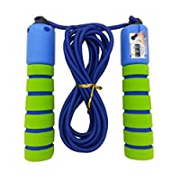 PIXNOR Anti-slip Foam Jump Rope Skipping Rope for Children Age 5 to 10 Year Old (Yellow+Black)