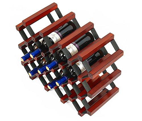 LYYHJJ ZHDC Weinregal Holz Haushalt Weinregal Kreativität Einfache Flaschenregal Länge 56 ×...