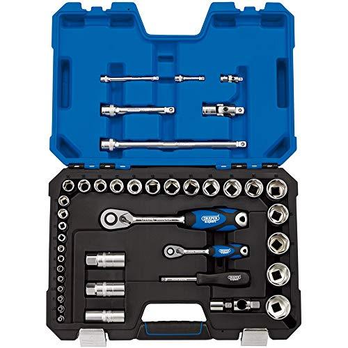 DRAPER tk42mn/SG 1/10,2cm und 1/5,1cm SQ. DR. metrisch Socket Set (42Stück), blau