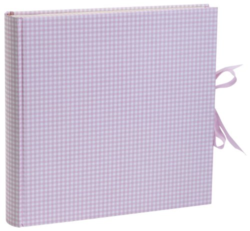 Semikolon Fotoalbum, gebundenes Leinen, Extra Large, Rose/Cream Gingham, xl (Xl Album)