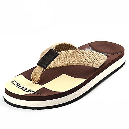 ALUK- Sommer Sandalen - Casual Anti-Rutsch Männer bequeme Verschleiß-resistenten Hausschuhe Strand Schuhe ( Farbe : Braun , größe : 39 ) Braun