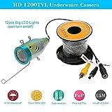 KKmoon 15M HD 1200TVL Unterwasser CCTV Kamera Wasserdicht Kamera Fishfinder für Ice/Meer/Fluss Angeln