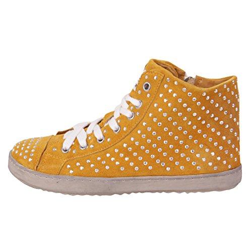 Francesco Milano donna Sneaker in pelle High Top Giallo Yellow F453T giallo 37