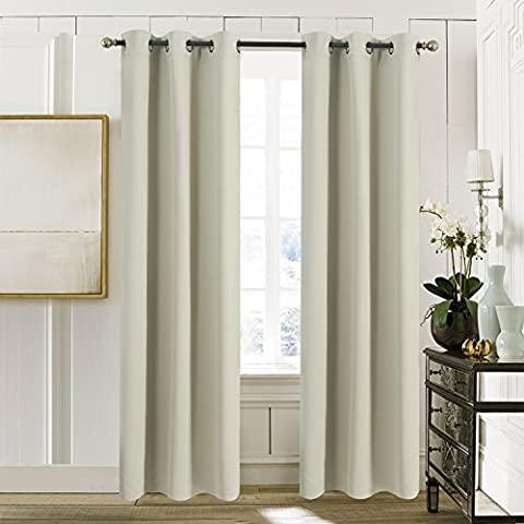 Ring Top Thermal Insulated Curtains - Aquazolax Premium Supersoft Plain