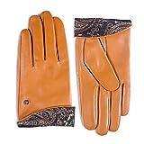 YISEVEN Damen Elegant Lammfelll Lederhandschuhe mit Warm Gefüttert Winter Leder Autofahrer Touchscreen Handschuhe, Cognac Mittel/7.0'