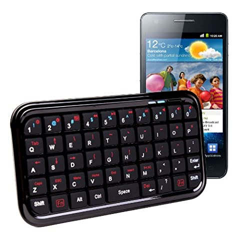 Mini Clavier Bluetooth DURAGADGET pour Téléphone Portables Smartphones Samsung Galaxy S II, Galaxy S III / S3 et Nexus S