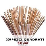 Bastoncini per Zucchero filato 200 pz da 40 cm x 0,4 cm