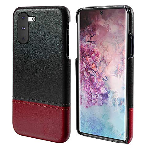 qRGnhXUn for Samsung Galaxy Note 10 Case, for Samsung Galaxy Note 10 Defender Cover Hüllen Folio Flip Cover Phone Hüllens Cheap Slim Shell for Samsung Galaxy Note 10 (Black-red) -