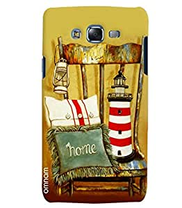Omnam Lamp Cushion Tower Lying On Old Wooden Chair Printed Designer Back Cover Case For Samsung Galaxy J5