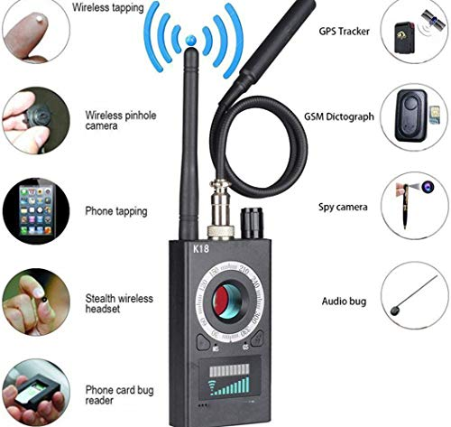Wenhu 1MHz-6.5GHz K18 Multifunktions-Anti-Spion-Detektor-Kamera GSM Audio Bug Finder GPS-Signalobjektiv RF-Tracker Erkennen Sie drahtlose Produkte Uhf-gps