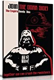 Star Wars Propaganda Join The Dark Side Leinwand Kunstdruck Bild, A1 76x51 cm (30x20in)