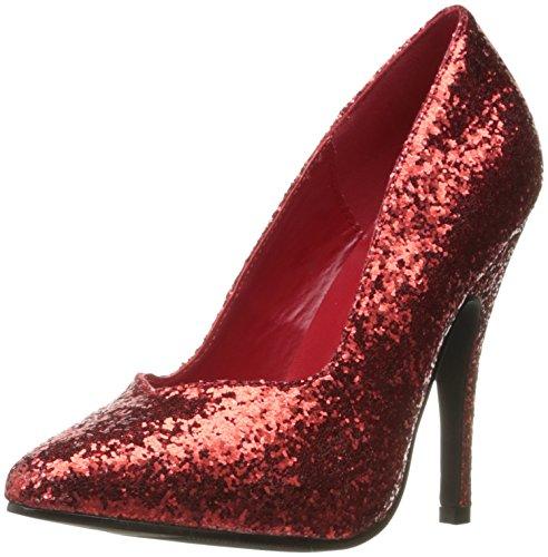 Ellie Shoes Damen 511-Glitter Slide Pumpe, Rot (Rot Glitter), 34 EU Ellie Shoes High Heel Pumps