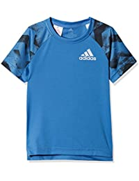 Adidas Yb Run tee Camisa de Golf, Niños, Azul (azretr), 164 (13/14 años)